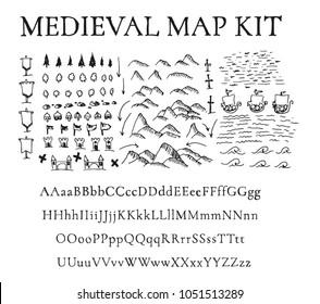 Mediaeval map kit