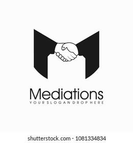 Mediation Cooperation Shake Hand Logo