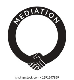 mediation - round handshake template,   put any number or text in the frame