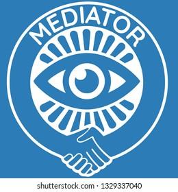 Mediator badge or seal design template