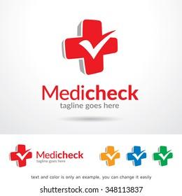 Medic Check Logo Template Design Vector