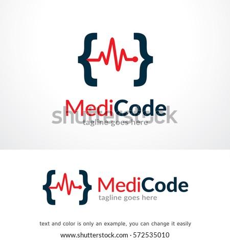 medic code logo template design vector stock vector royalty free
