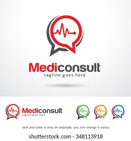 Medic Consult Logo Template Design Vector