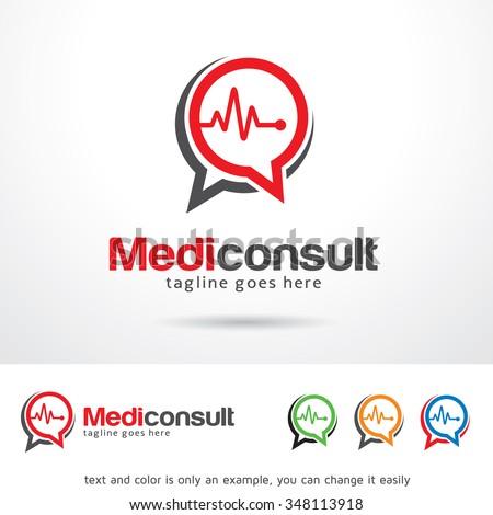 medic consult logo template design vector stock vector royalty free