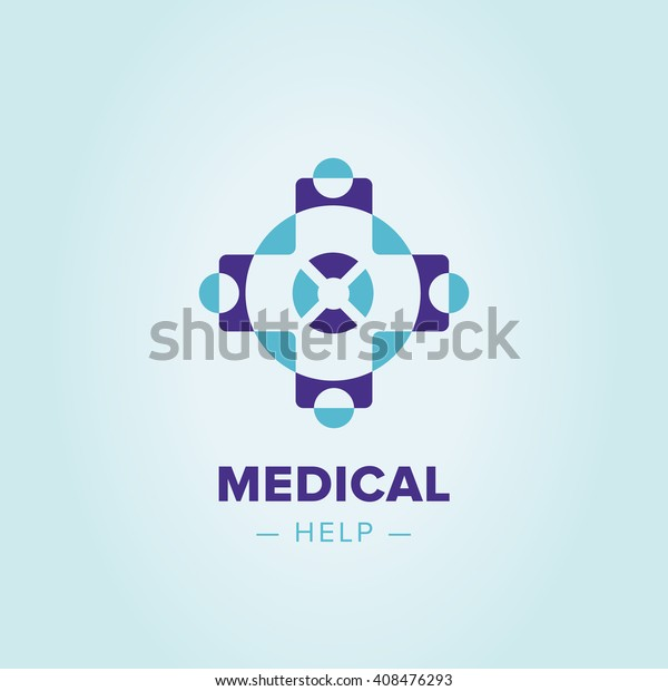 Medic cross icon, pharmacy logo template. Corporate, identity, company, brand, branding, logotype Clean modern and elegant style