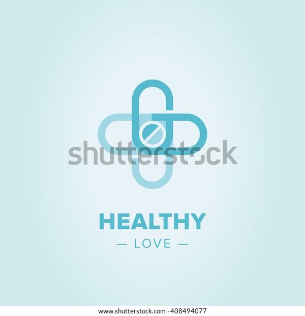 Medic cross icon, pharmacy logo template. Corporate, identity, company, brand, branding, logotype Clean modern and elegant style