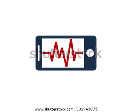 medic mobile logo design template stock vector royalty free