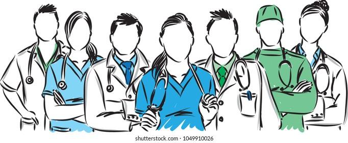 medic staff vector illustration
