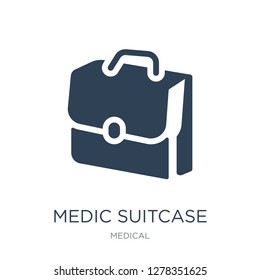 medic suitcase icon vector on white background, medic suitcase trendy filled icons from Medical collection, medic suitcase vector illustration