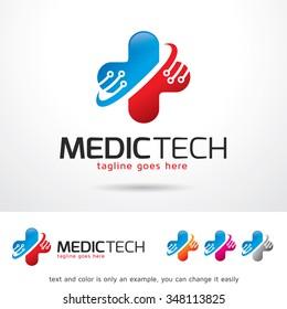 Medic Technology Logo Template Design Vector