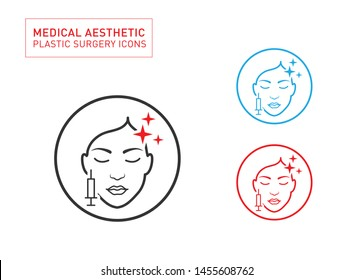 Medical Aesthetic and beauty Line icon