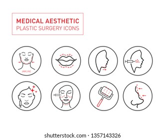 Medical Aesthetic icon Set Vector