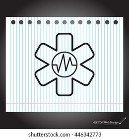 medical (ambulance) line icon