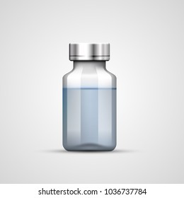 Medical ampoule, Objects on white background. Vector illustration