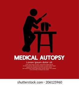Medical Autopsy Graphic Vector Illustration