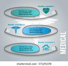 Medical background abstract - concept health care or medicine technology. Vector Illustration EPS 10, Graphic Design elements vertical banner, flyer dental service, presentation template brochure