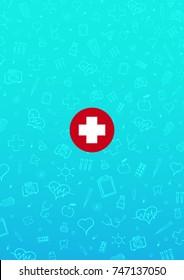 Medical background. Medical care. Health care. Vector medicine illustration