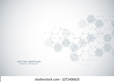 Medical background design. Geometric abstract background with hexagons. Medicine, science and technology vector illustration