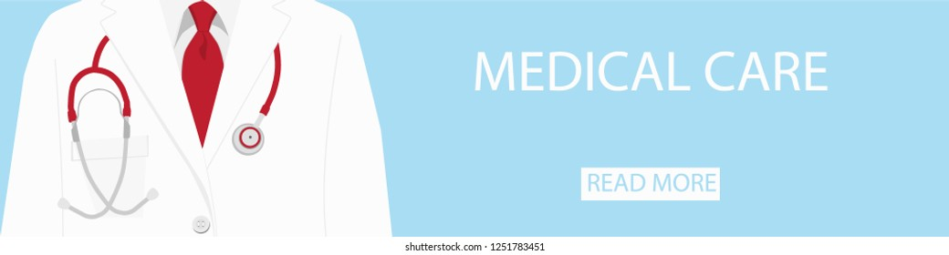 Medical background doctor with stethoscope. Vector illustration