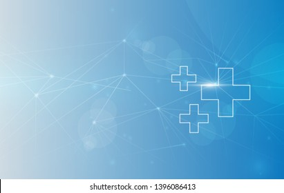 Medical  Background, Global Connectivity Suitable for Healthcare and Medical Topic. vector illustration