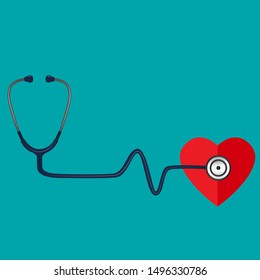 Medical background with stethoscope. Vector Illustration.