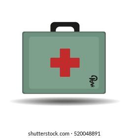 medical bag on a white background