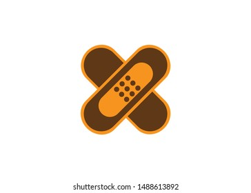 medical bandage flat design style vector icon