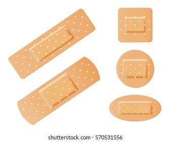 Medical bandages vector