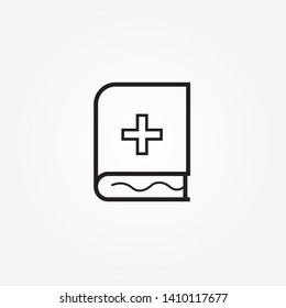 medical book icon design.Medical records book line icon, outline vector logo illustration, linear pictogram isolated on white