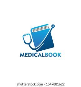 Medical Book Logo Template Design