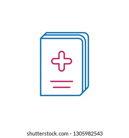 Medical, book, medicine colored icon. Element of medicine illustration. Signs and symbols icon can be used for web, logo, mobile app, UI, UX on white background