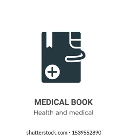 Medical book vector icon on white background. Flat vector medical book icon symbol sign from modern health and medical collection for mobile concept and web apps design.