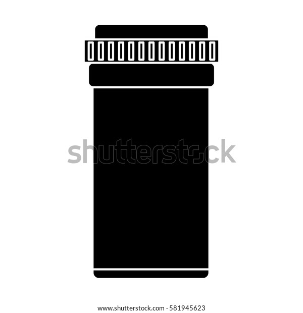 medical bottle pills pharmacy pictogram