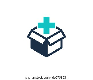 Medical Box Icon Logo Design Element