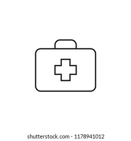 Medical box Icon Vector illustration, EPS10.