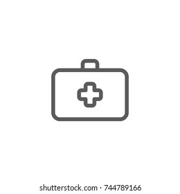 Medical box line icon, Vector on white background
