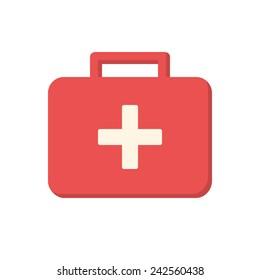Medical box, modern flat icon