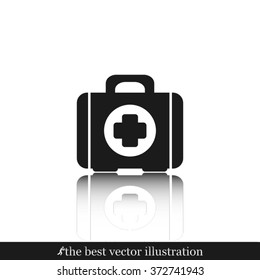 Medical briefcase icon vector illustration eps10.