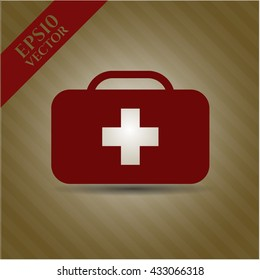 medical briefcase icon vector symbol flat eps jpg app