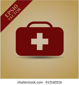 Medical briefcase vector symbol