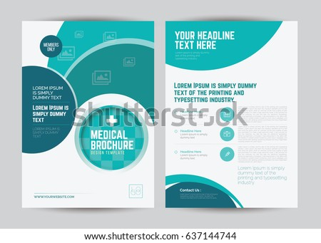 medical brochure design template a 4 size stock vector royalty free
