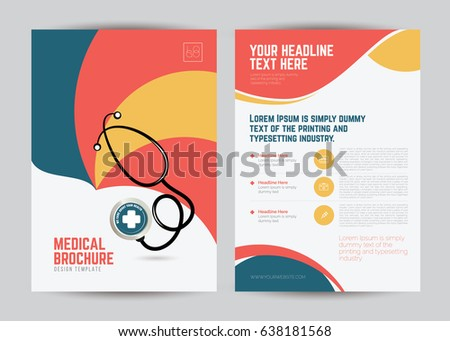 medical brochure flyer design template a 4 のベクター画像素材