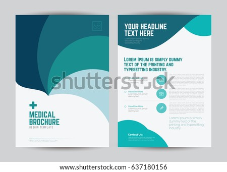 medical brochure flyer template design a 4 stock vector royalty
