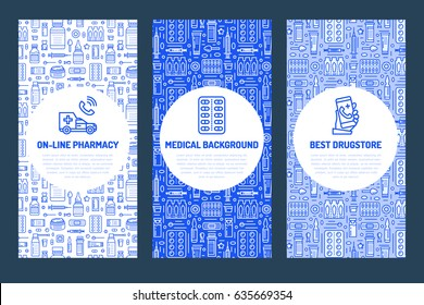 medical check poster template vector flat stock vector royalty free