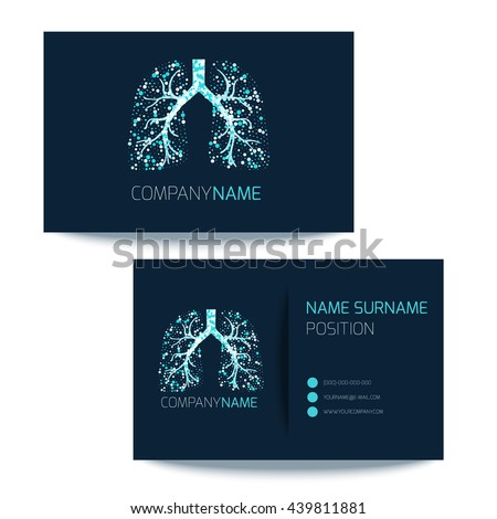 Medical Business Card Template Lungs Filled Stock Vector (Royalty ...