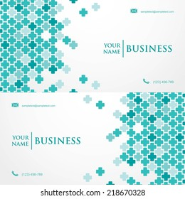 Medical business card template - vector illustration