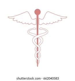 medical caduceus health care emblem