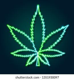 Neon Weed Images Stock Photos Vectors Shutterstock