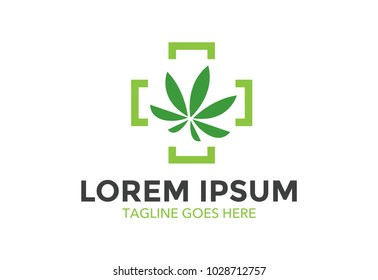 medical cannabis logo. marijuana. vector illustration. editable