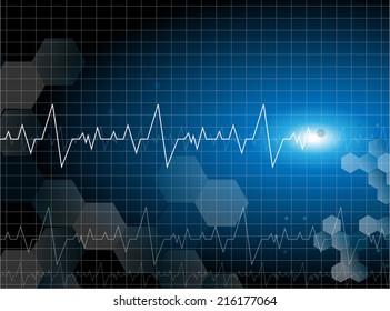 medical cardiac molecular background vector